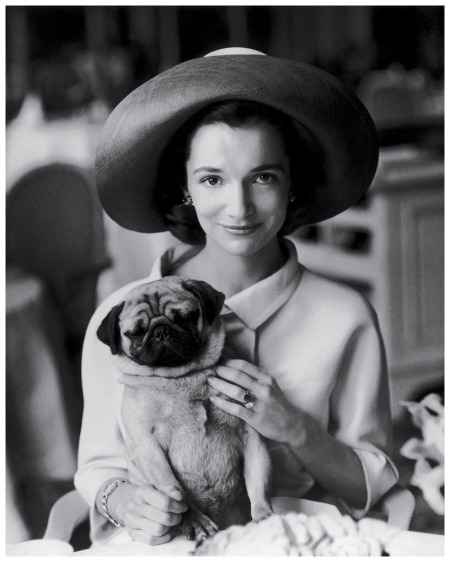 Radziwill with her pug, Thomas, photographed for Vogue in 1960. Henry Clarke