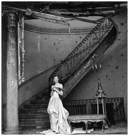 Wenda Rogerson (Mrs. Norman Parkinson 1923-1987) in evening gown by Rahvis, photo by Clifford Coffin, London, April 15, 1947