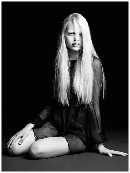 "Daphne Groeneveld in ""Faces of Now"" by Hedi Slimane for V Winter 2012"