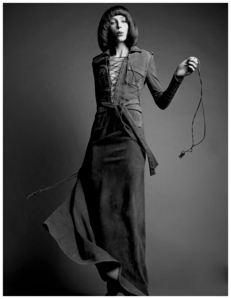Edie Campbell LOVE Magazine #9 Spring:Summer 2013 | The Girls 3 Hedi Slimane YSL