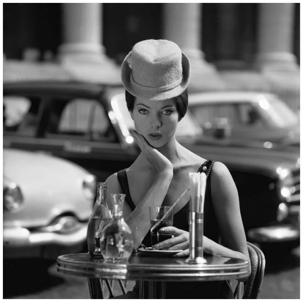 Fred brommet (1924-2008,) tournage de mode sur la place de la