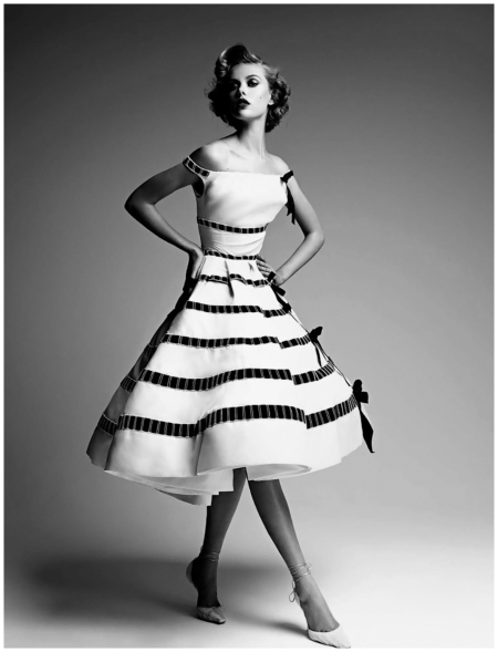 Frida Gustavsson in Dior Couture Book by Patrick Demarchelier
