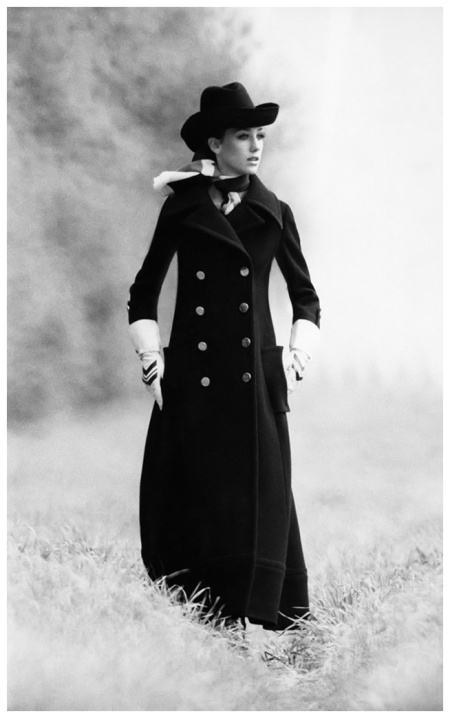 Marisa Berenson in an Overcoat and Bowler Hat 1968 Photo Arnaud de Rosnay