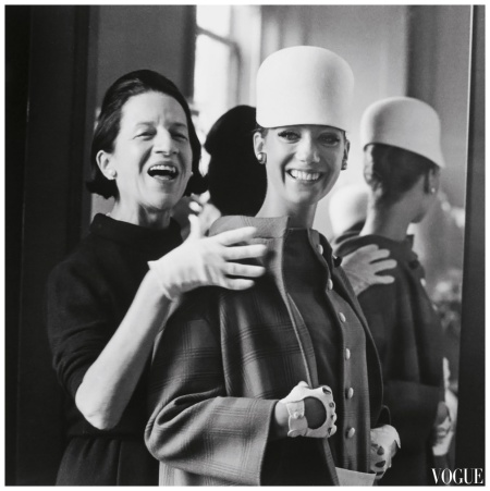 Marisa Berenson with friend and mentor, Diana Vreeland (Editor-in-Chief of Vogue, 1962 – 1971), photo by James Karales VOGUE