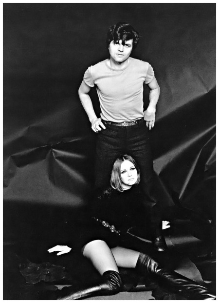 Photographer Guy Bourdin and model Nicole de la Marge, photo by Willy Rizzo, 1965