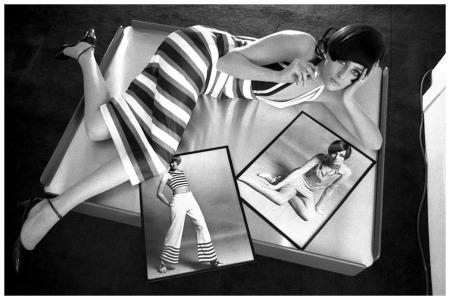 Jill Kennington, photo by Brian Duffy, King's Road, Queen, 1968