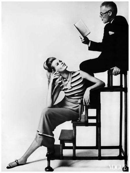 Veruschka and Glenway Wescott Photographed Bert Stern, Vogue, July 1, 1963