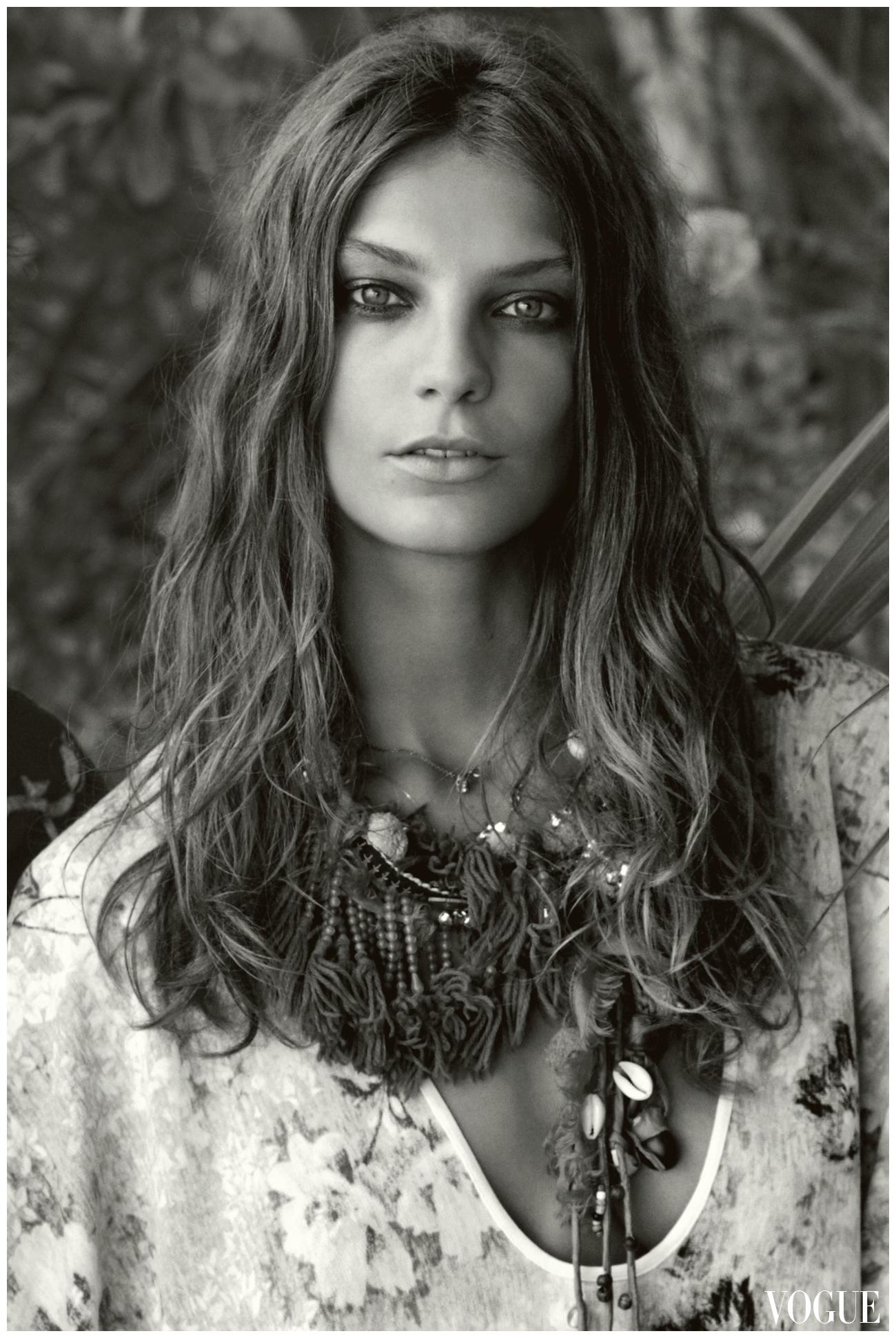 Daria Werbowy Bob Daria Werbowy Vogue Photo