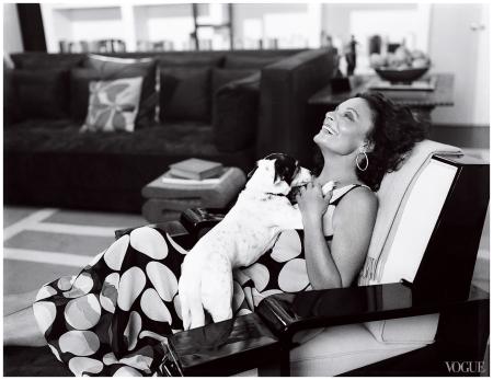 Diane von Furstenberg Photographed by Francois Halard, Vogue, July 2006