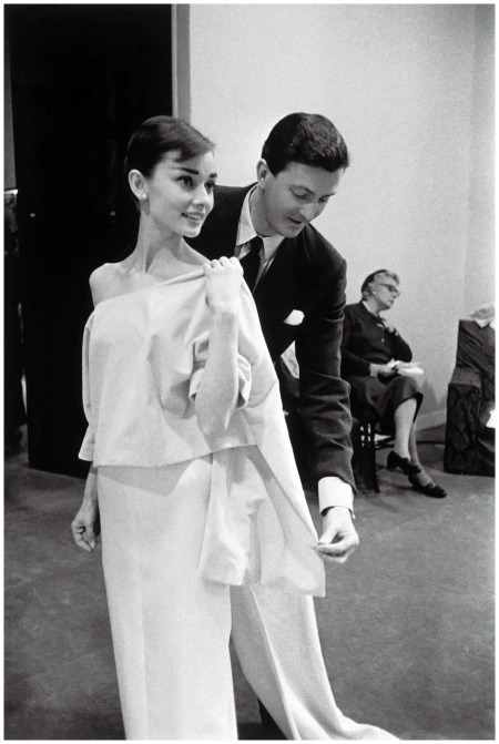Actress Audrey Hepburn with H.Givenchy - Vogue - Conde Nast Publications
