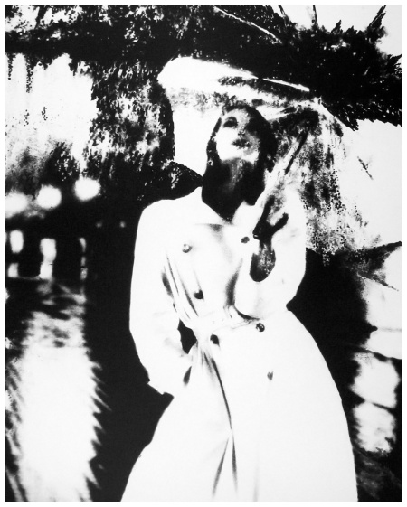 Anne Saint-Marie Untitled, (Model with raincoat and umbrella), 1950