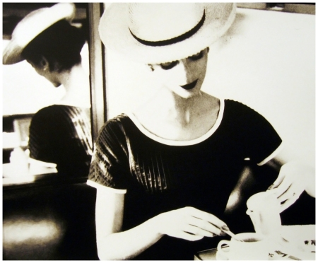 Carmen Dell'Orefice Having Tea, c. 1950 Photo Lilian Bassman