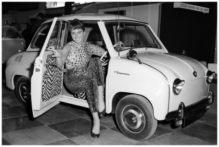 Jackie Collins Goggomobil T300 1950 Getty