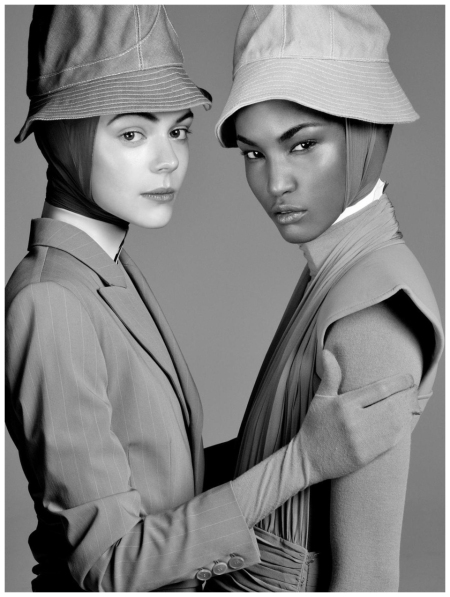 Kinga Rajzak and Sessilee Lopez Photo Steven Meisel_Vogue Italia (Jan. 2010) - Form Function by Steven Meisel