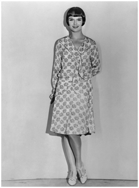 Louise Brooks Modeling Frock