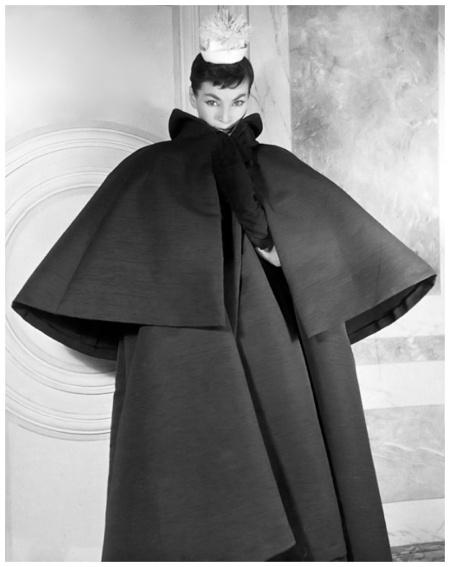 Luki in Balenciaga Coat, Paris 1953 Louise Dahl-Wolfe Archive b