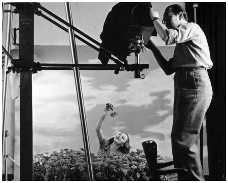 Martin Munkácsi In Studio With Model NYC 1940