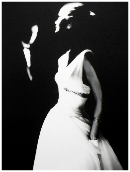 Photo Lilian Bassman Margie Cato, Junior Bazaar [White Dress & White Gloves], c. 1950