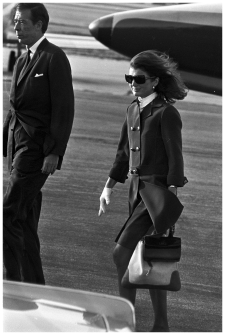 Photo Nick Ackerman Jacqueline Kennedy arriving at Los Angeles airport after Robert Kennedy was shot (1968)