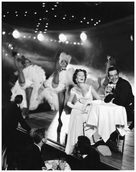 Richard Avedon Suzy Parker and Robin Tattersall, Evening Dress by Grés, Moulin Rouge, Paris, August 1957
