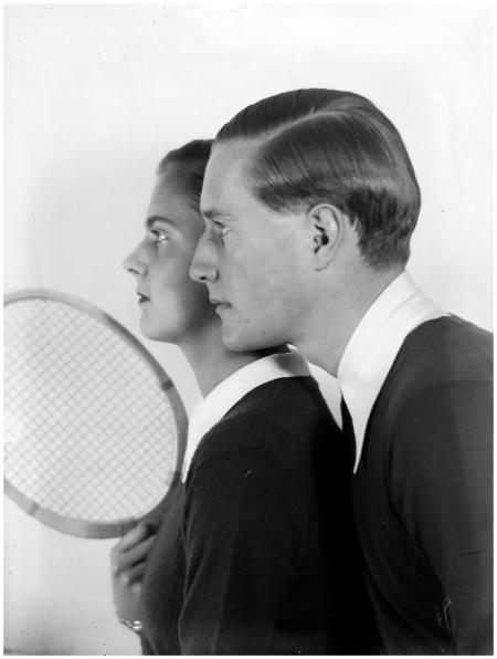Tennis player Gottfried Freiherr von Cramm with his wife Elisabeth], ca. 1930 - Photo Martin Munkacsi