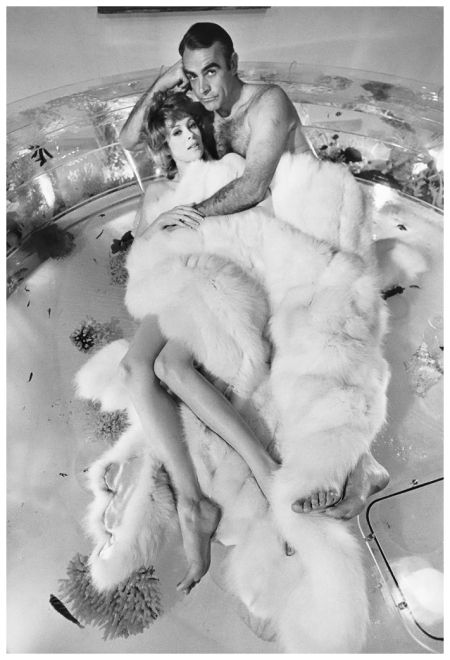 Terry O'Neill Sean Connery and Jill St John as James Bond and Tiffany Case in the classic Bond love scene from Diamonds Are Forever What's a Nice Girl Like You Doing In a Bed Like This, 1971