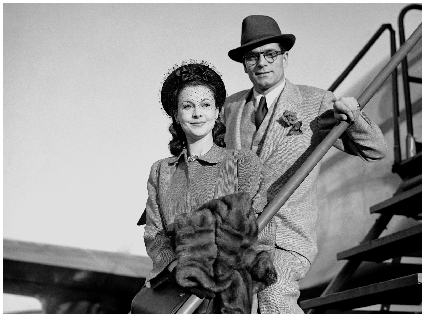 Actor Laurence Olivier and his wife Vivien Leigh ...Isabel Jeans And Vivien Leigh