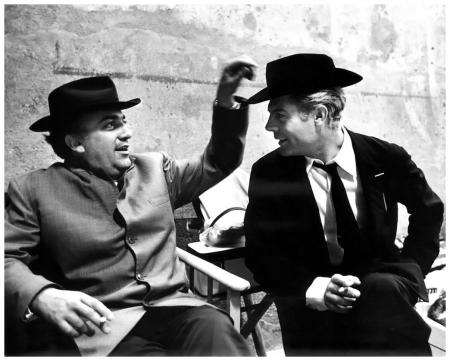 Archivio Secchiaroli, Fellini e Mastroianni sul set di otto e mezzo