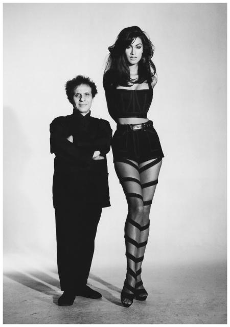 Azzedine Alaia and Jasmine Ghauri Patrick Demarchelier 1991