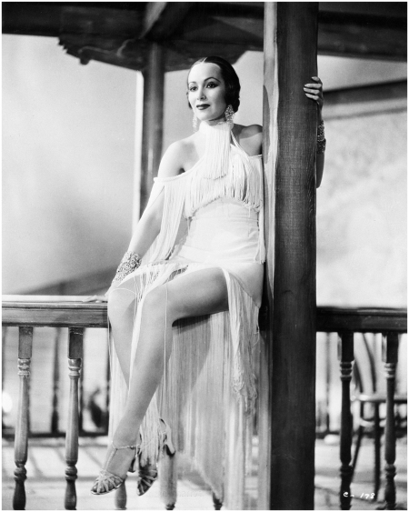 Dolores Del Rio in Fringed Dance Costume