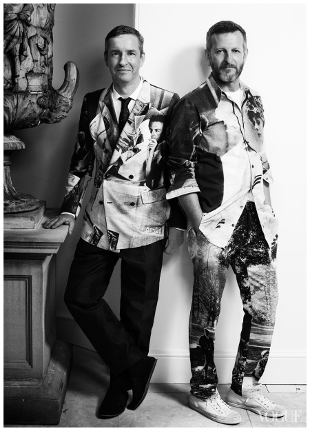 Photo Alex Bramall Dries Van Noten and Patrick Vangheluwe