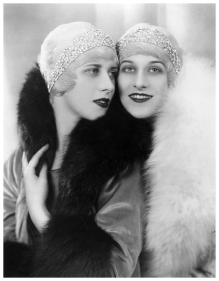 pThe Rowe Sisters wearing jewelled headbands and fur collars. (Photo by Sasha-Getty Images) 1928