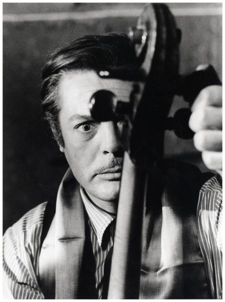 Sul set di Otto e mezzo di Federico Fellini, 1963