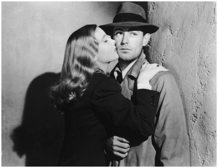 Veronica Lake With Alan Ladd in the film-noir This Gun For Hire, 1942