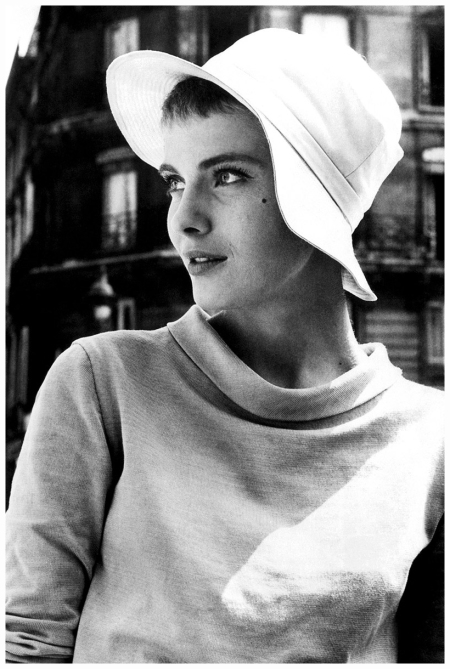 Jean Seberg wearing a hat and looking to the left of the image, USA, circa 1960. (Photo by Pictorial Parade:Archive Photos:Getty Images)