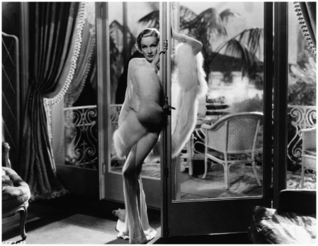 Marlene Dietrich Leans Against Doorway