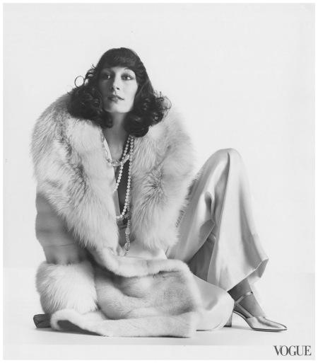 Anjelica Huston - Photographed by Irving Penn, Vogue, November 1, 1972