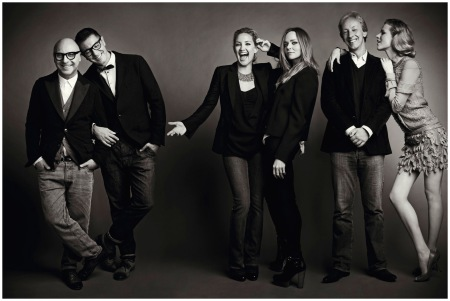 Domenico Dolce, Stefano Gabbana, Kate Hudson, Stella McCartney, Eva Herzigova, and Perry Oosting at the 2012 Vogue Festival