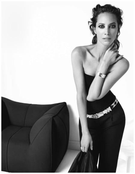 Inez van Lamsweerde & Vinoodh Matdin Christy Turlington Vogue Paris Dec 2012 bw