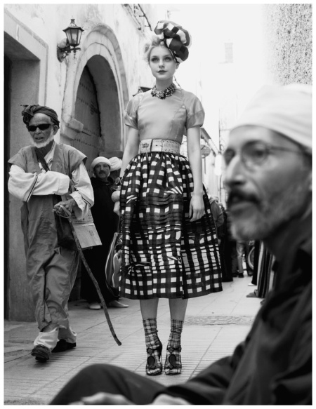 Jessica Stam Photo Patrick Demarchelier in Essaouira for the May 2008