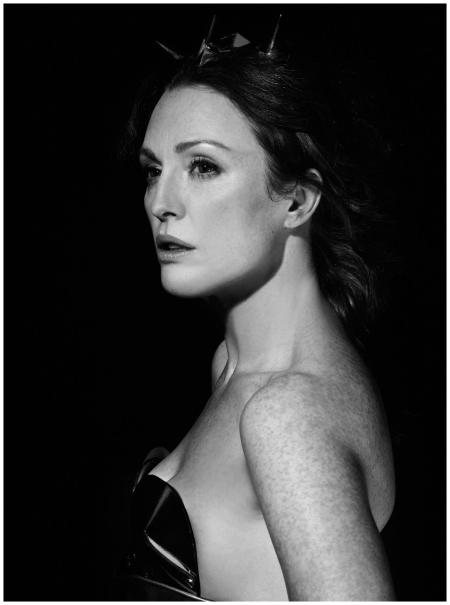 Julianne Moore shot by Karl Lagerfeld for the 2011 calendar