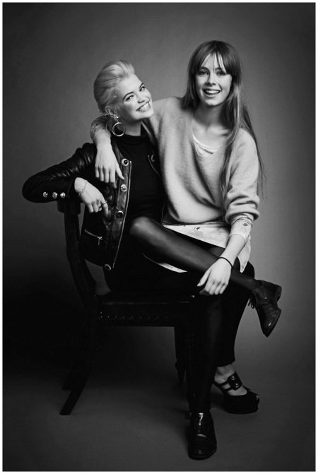 Pixie Geldof and Edie Campbell at the 2012 Vogue Festival Jason Bell