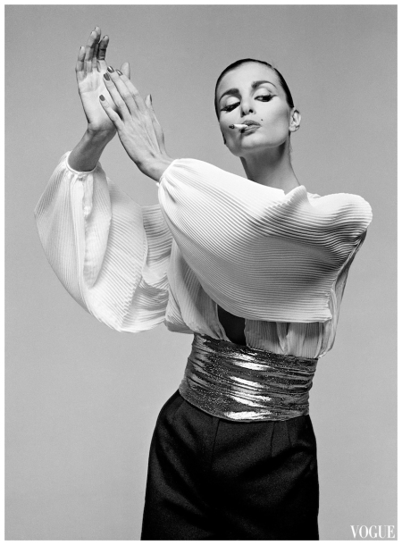 Apollonia van Ravenstein in trousers and blouse by Pims, photo by Gian Paolo Barbieri for Vogue Italia - 1980