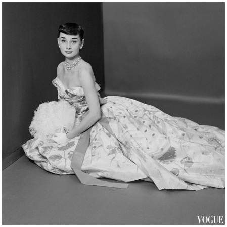 Audrey Hepburn Vogue Mar 1952 Richard Rutledge