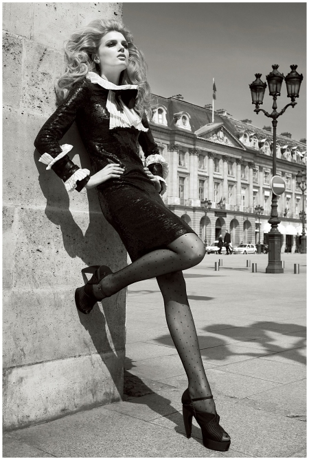 Lily Donaldson Photo Patrick Demarchelier Paris Vogue - 2009_a