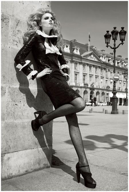 Lily Donaldson Photo Patrick Demarchelier Paris Vogue - 2009_a