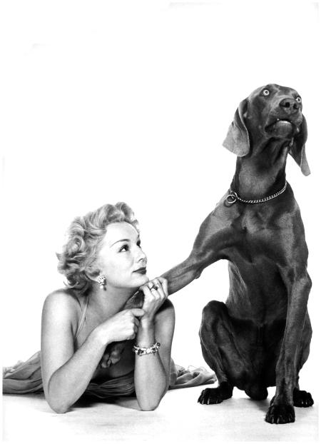 Philippe Halsman - British-Hungarian actress Eva Gabor, 1953