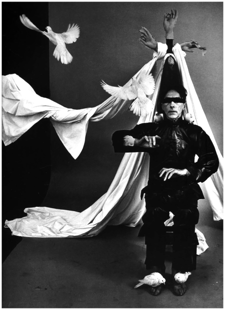 "Philippe Halsman - French poet, artist and filmmaker Jean Cocteau. ""Dream of a Poet"". USA, New York City, 1949 b"