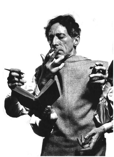 Philippe Halsman - French poet, artist and filmmaker Jean Cocteau. USA, New York City, 1949