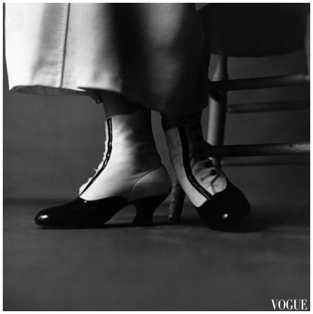 Richard Rutledge photographed the booties of stage and film star Nanette Fabray Dec 1947 Vogue Photo Richard Rutledge